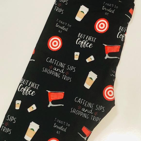 Pants - Fun legging Coffee & Shopping